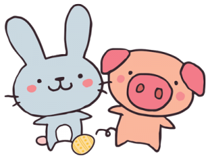 bunnies and pigs